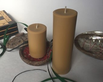 Brown Pillar Candles