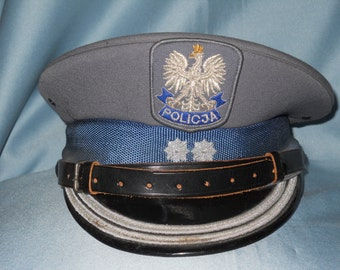 Old obsolete Polish visor cap for Police officer !