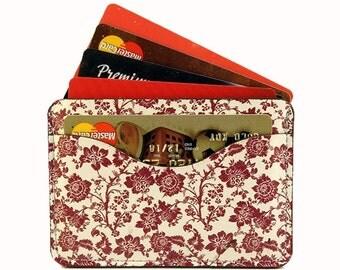 Door card red flowers
