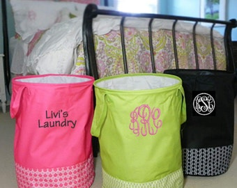Personalized Collapsible Laundry Hamper - Storage Bins