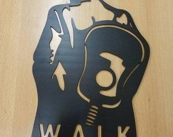 Walk the Line Johnny Cash metal wall art plasma cut decor