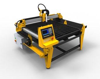 1250mm x 1250mm (4x4 feet) CNC Plasma Table  DIY Plans