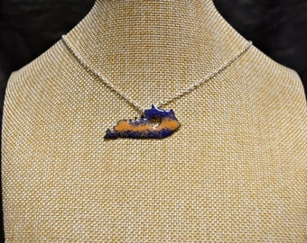Blue & Tan Handmade Kentucky Stone Necklace!