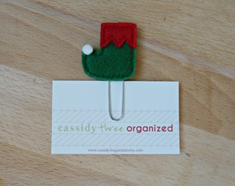 Elf shoe planner clip, Christmas planner clip, planner clip, organier clip, calendar, elf shoe