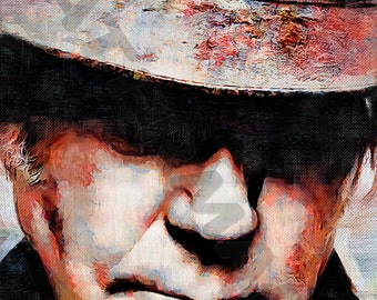 Neil Young Art Print -  Oil Painting Poster  LFF0134