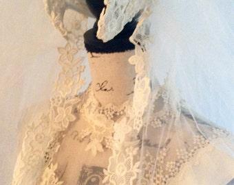 Vintage Bridal Gown and Veil