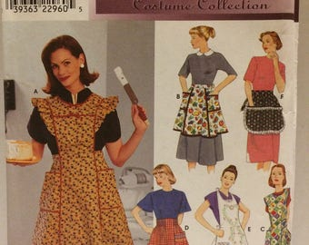 Sewing pattern Simplicity Retro misses aprons pattern 8720