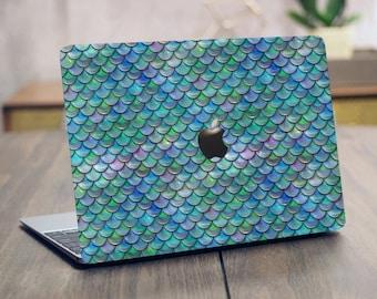 Iridescent Mermaid Scales macbook pro macbook air macbook retina laptop computer skin decal cover case