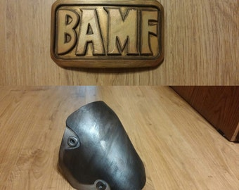 Mccree buckle (Bamf) and knee pad from Overwatch