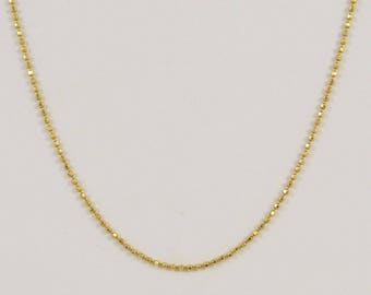 14k Yellow Gold Ball Chain/necklace 20'' Long(01117)