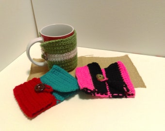 Set of 3 mug cozies