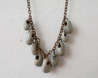 Ceramic Necklace Rain Drops