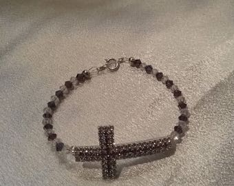 Lavender crystal  side cross