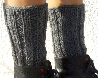 "Neckwarmer and Leg Warmers: ""GRAY GIRLS SET"" infinity scarf and leg warmers set A124"