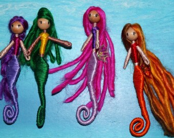 Sea horse mermaids- mythical Bendy Doll