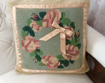 Stunning vintage tapestry cushion