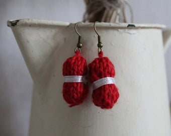 "Earrings ""ball of yarn"" (earrings ""wool ball"")"