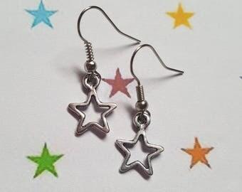 Star earrings, Stars earrings, Dangle earrings, Stars, Star, Fantasy jewellery, Fantasy, Stellar, Stellar jewellery, Celestial, Zodiac