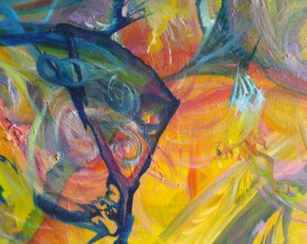 Always In Process Oil On Canvas Colorful Painting Intuitive Painting  Spiritual Painting
