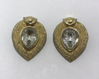 Christian Dior earrings clips vintage french designer jewelry
