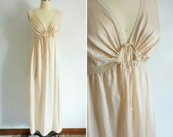 vintage Elaine keyhole gown | vintage cream gown
