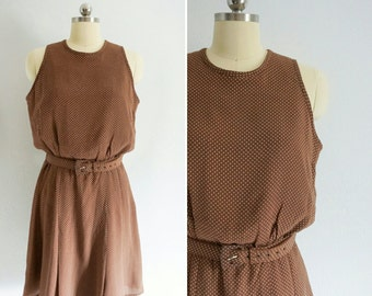 1980s Campbell polk-a-dot dress | 80s polk-a-dot dress | vintage mini dress
