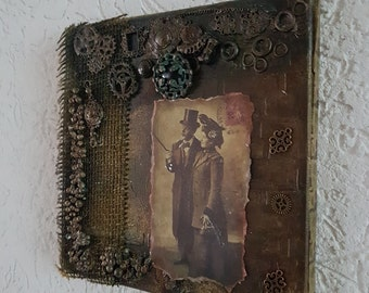 Steampunk, vintage, retro, decoupage, scrapbooking, the walk, mixed media, collage, 3D pictures, image, images