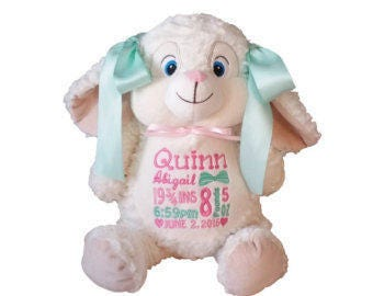 Bunny Cubbie - Can be Personalized