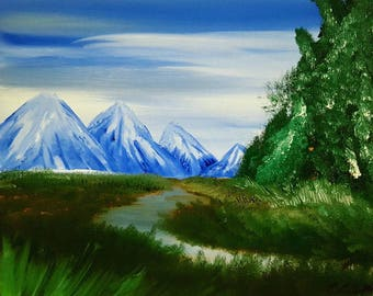 "Oil painting landscape print 8""x10"" -Setting Out-"
