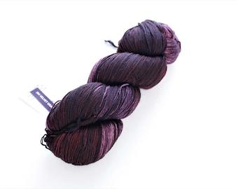 Purple Sock Yarn Malabrigo Sock 204 Velvet Grapes Fingering Yarn