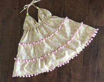 Little Girls Pompom Dress
