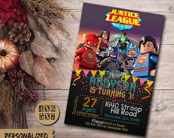 Justice League Invitation / Justice League Birthday Invitation / Justice League Party / Justice League Invite / Justice League Birthday