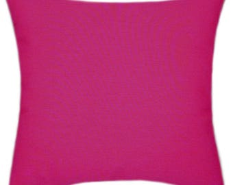 Sunbrella Canvas Blush Pink/Red Indoor/Outdoor Solid Pillow