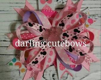 minnie mouse hairbow minnie mouse bow minnie mousr hair bow disney princess hairbow