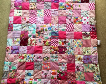 Beautiful girlie baby patchwork quilt