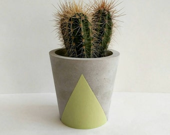 Concrete Plant Pot - available in a choice of colours