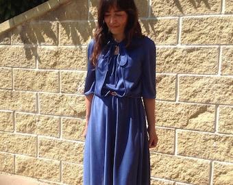 70s Vintage dress | Vintage Dress | Electric blue dress | prom dress | 70s dress | Electric Blue dress
