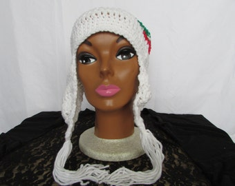 Adult Crochet Christmas Hat with Earflap