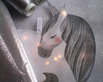 Small Nightlight Unicorn glitter