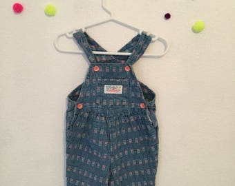 Vintage baby clothing, 90s baby clothes, vintage baby overalls, 1990s baby outfit, 6-9 months vintage clothes, 90s baby, vintage overalls