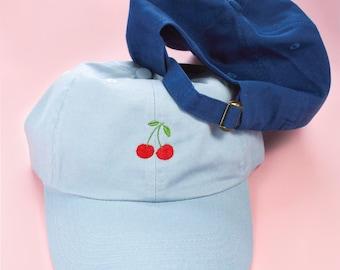 Cherry Custom Baseball Dad Cap