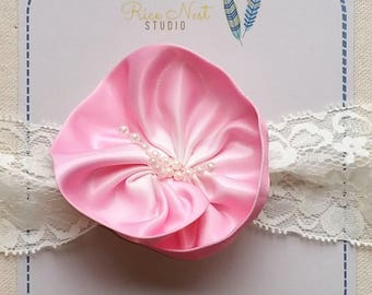Satin Tropical Flower Headband