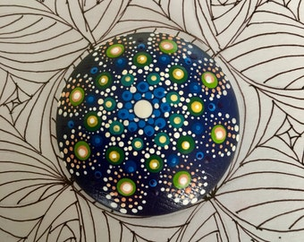 Mandala Dot Art Wooden Magnet (mini)
