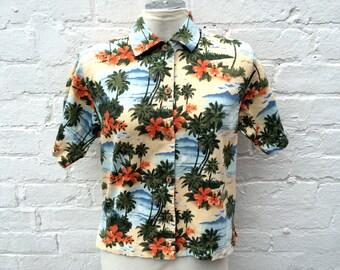Hawaiian shirt, vintage top, women's summer fashion