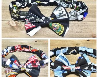 American Headband Marine Headband Army Headband Air Force Headband Military Headband Bow Headband Marine Bow Army Bow Air Force Bow Bows