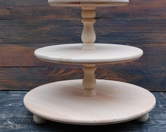 White 3 tier cake stand,wood three tiered cake stand,3 Tier Wedding Cake Stand,3 Tier Cupcake Stand,3 Tier Pastry Stand,3 Tier Dessert Stand