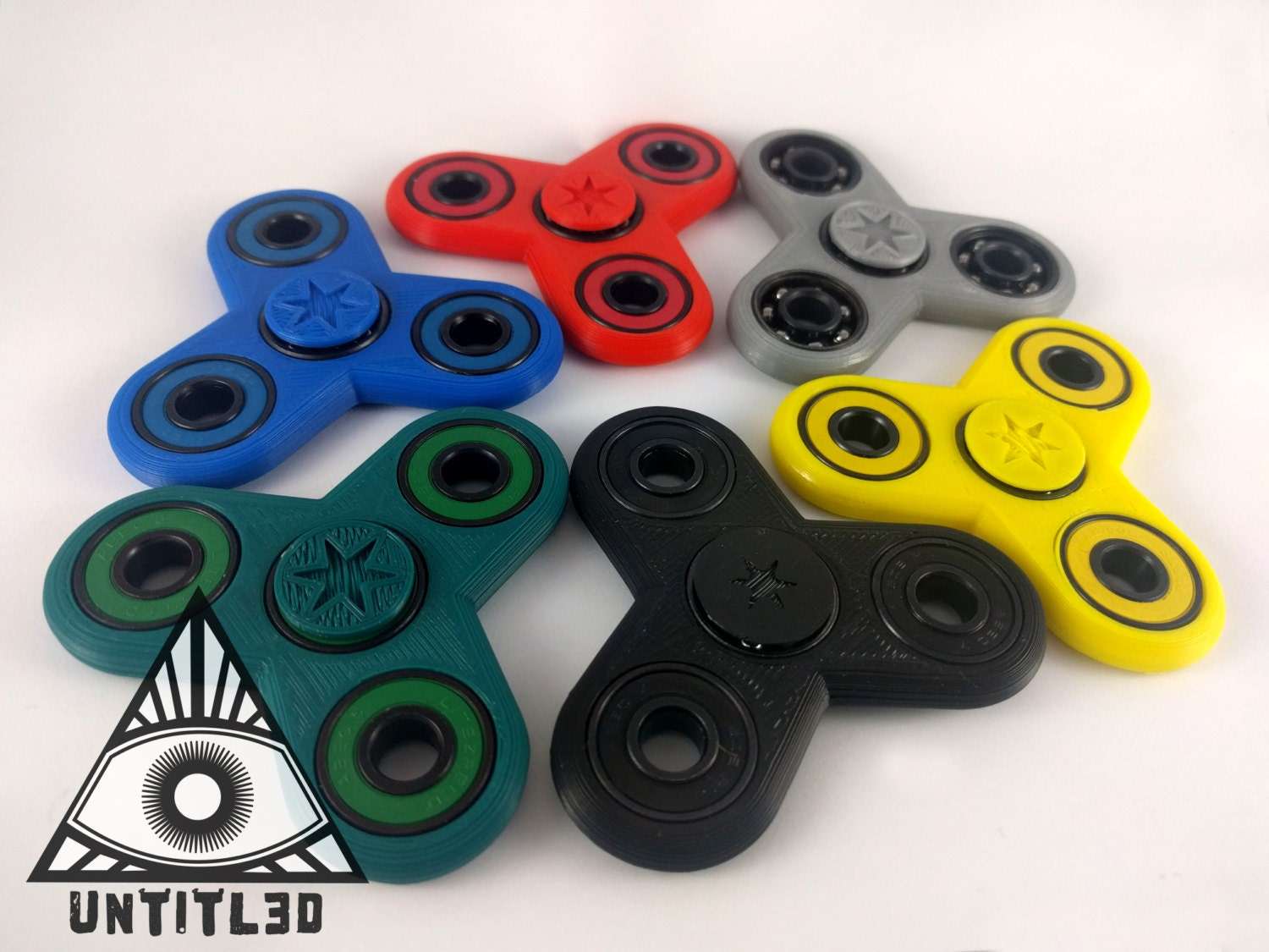 EDC Triple Fidget Spinner Bar Toy ** Now Lubed with Bones Speed Cream**