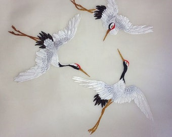 Machine Embroidery Designs - Three Cranes - 2 sizes