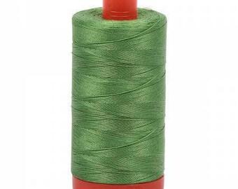 Aurifil Mako Cotton Thread Solid 50wt 1422yds Grass Green