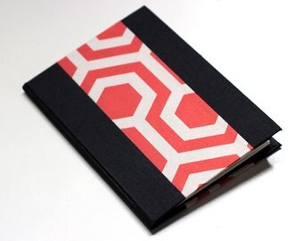 Hardcover Pocket Notebook - red geometry